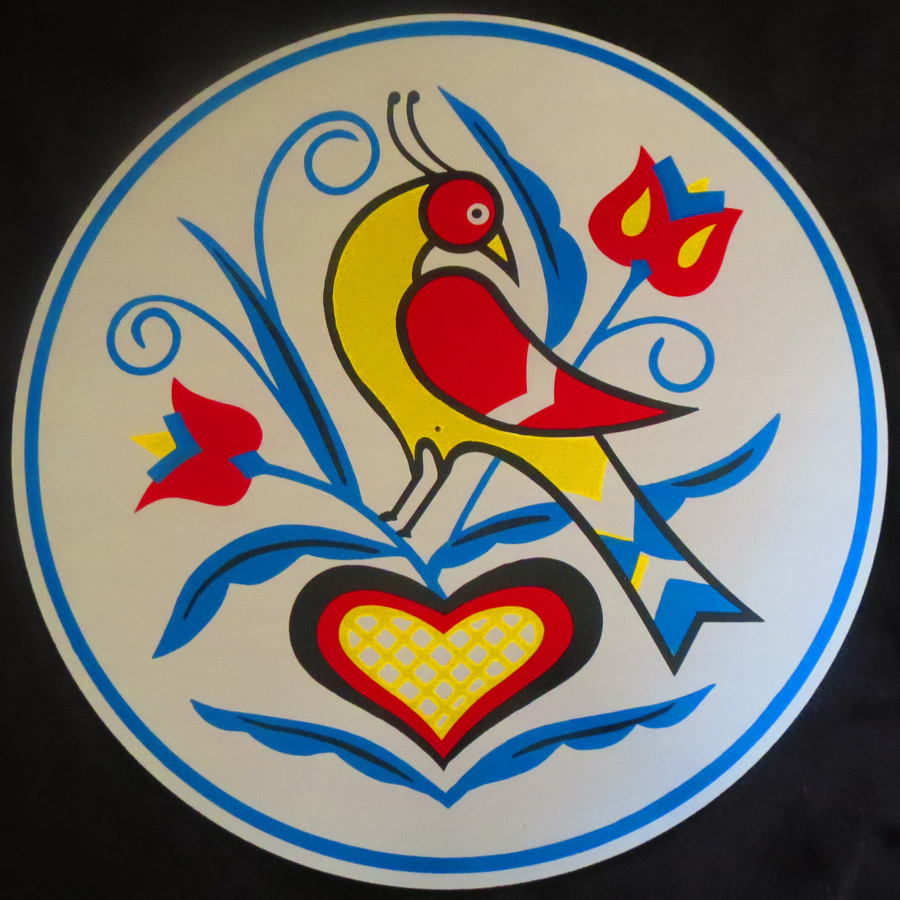 """8/"""" Double Bird Tulips Hex Sign Crafted by Conestoga Made in the USA"""