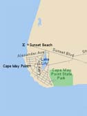 Map of Cape May Point, NJ