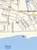 Map of Grant Street Cape May, NJ