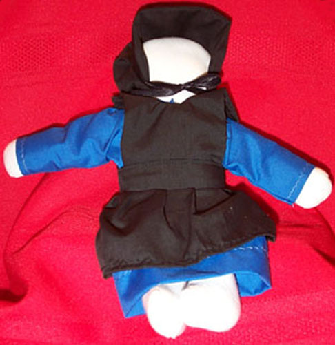 Hand Crafted Amish Girl Doll by Priscilla