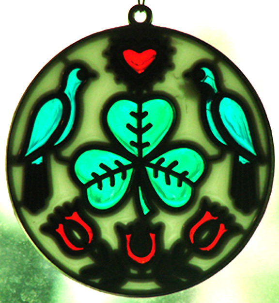 Luck of the Irish Hex Sign Sun Catcher